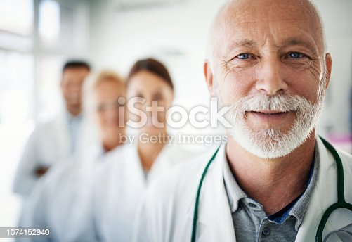 istock Group of doctors looking at the camera. 1074152940