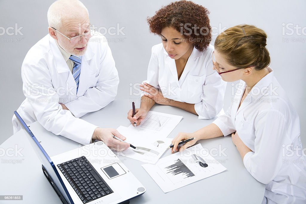 Group of doctors royalty-free stock photo