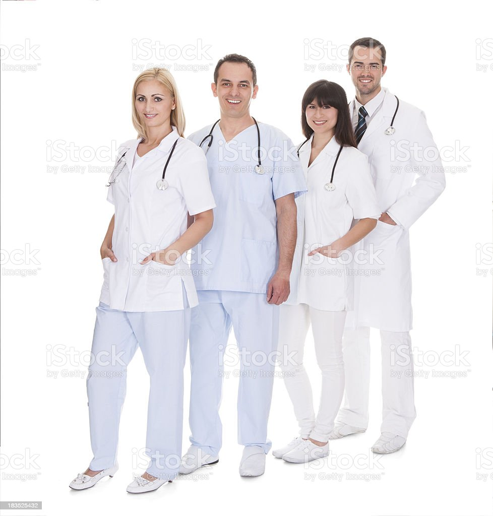 Group Of Doctors Standing In Row royalty-free stock photo