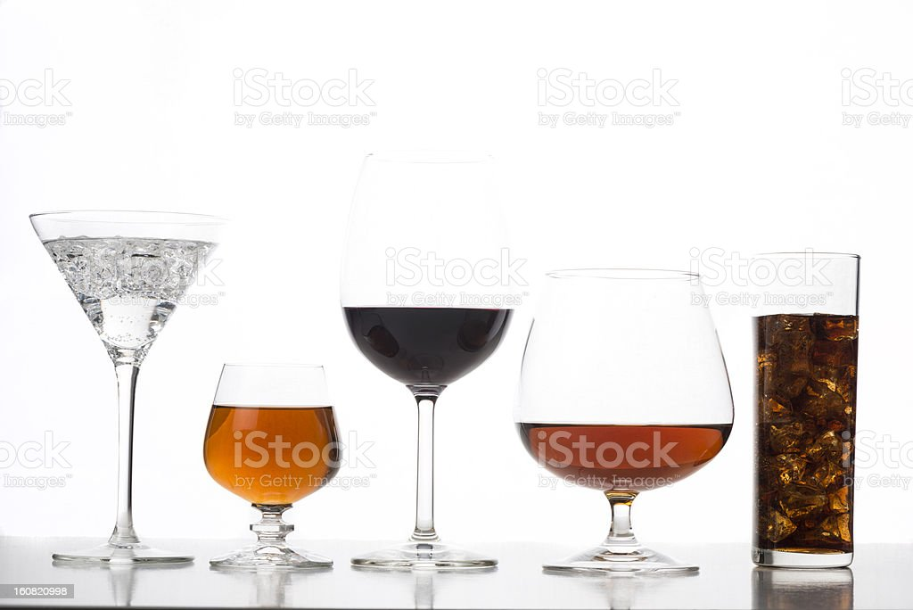 Group of drinks royalty-free stock photo