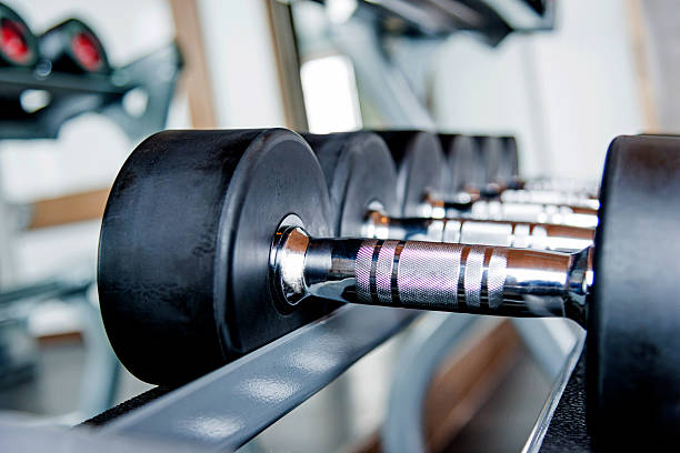 Group Of Dumbbells Stock Photo - Download Image Now - iStock