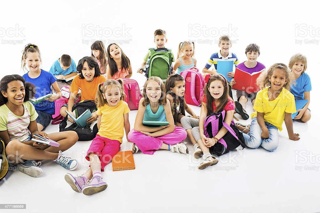 Group of elementary students. royalty-free stock photo