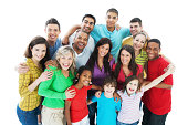istock Group of embraced people. 184348473