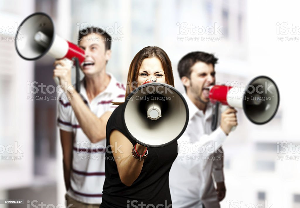 group of employees royalty-free stock photo