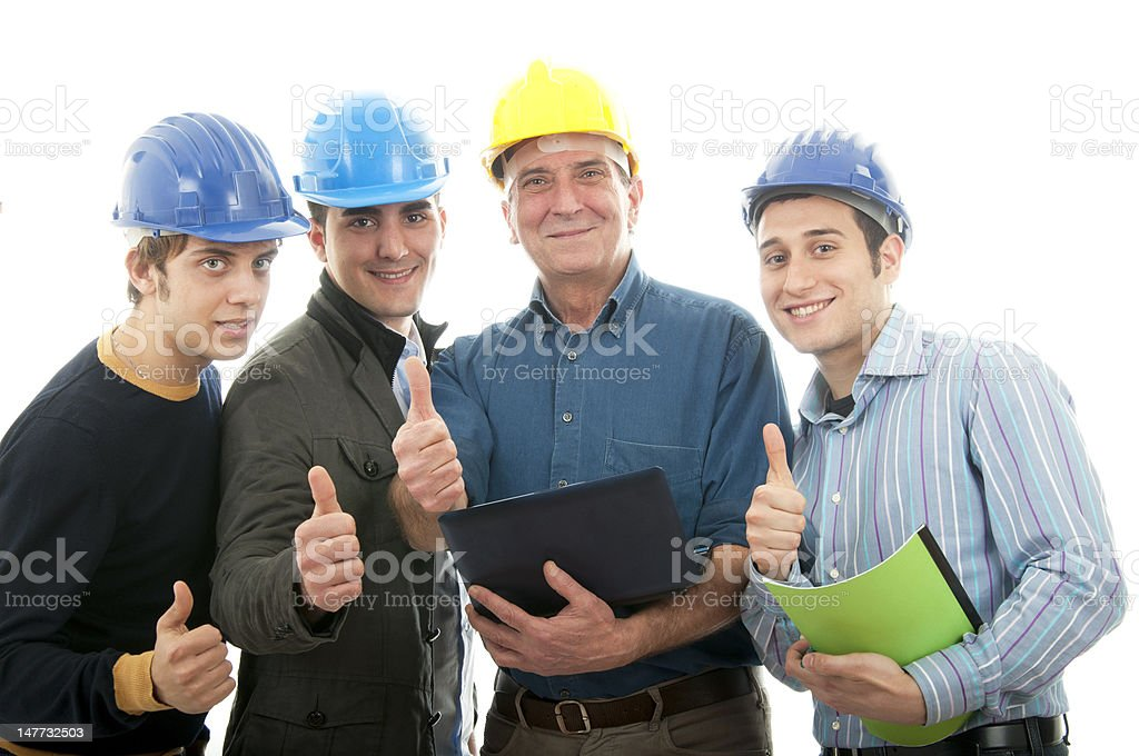 Group of engineers stock photo