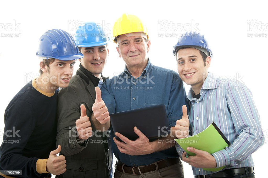 Group of engineers royalty-free stock photo