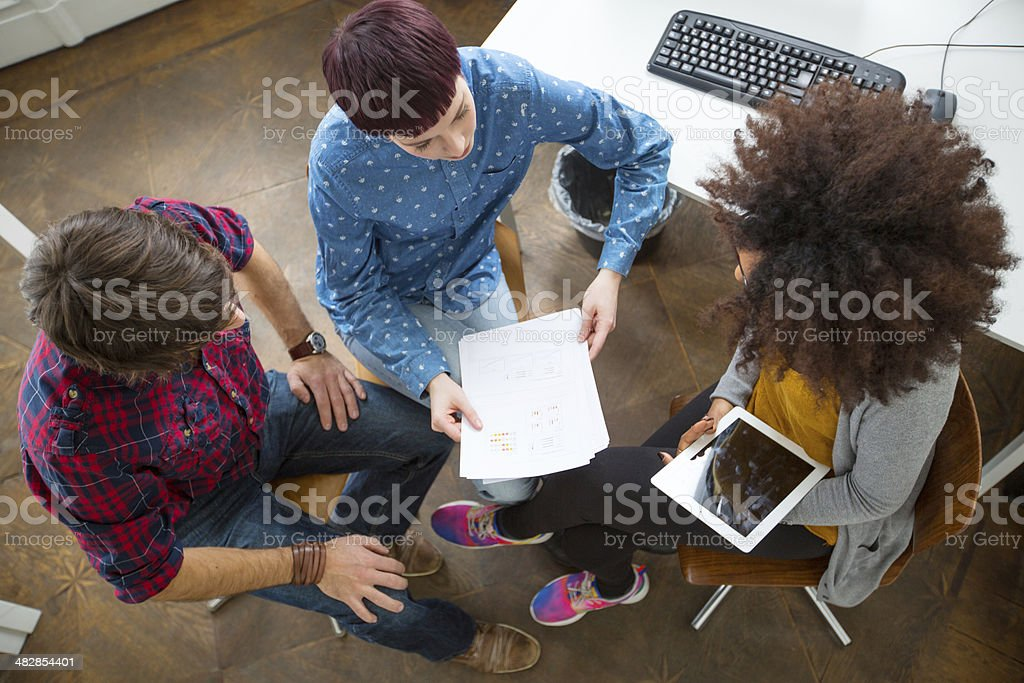 Group of entrepreneurs at a meeting stock photo