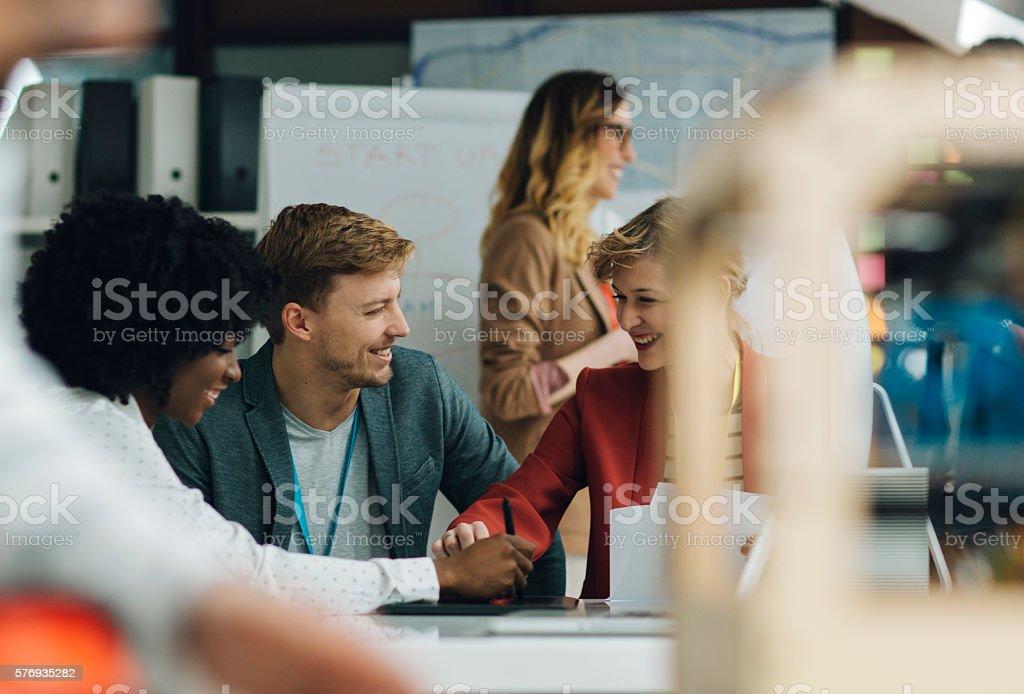 Group of Entrepreneurs At Work In Office stock photo