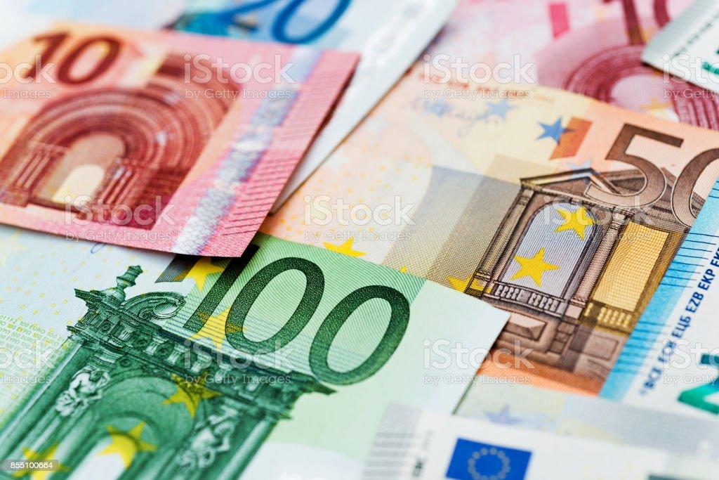 Gruppe von Euro Rechnungen Hintergrund – Foto