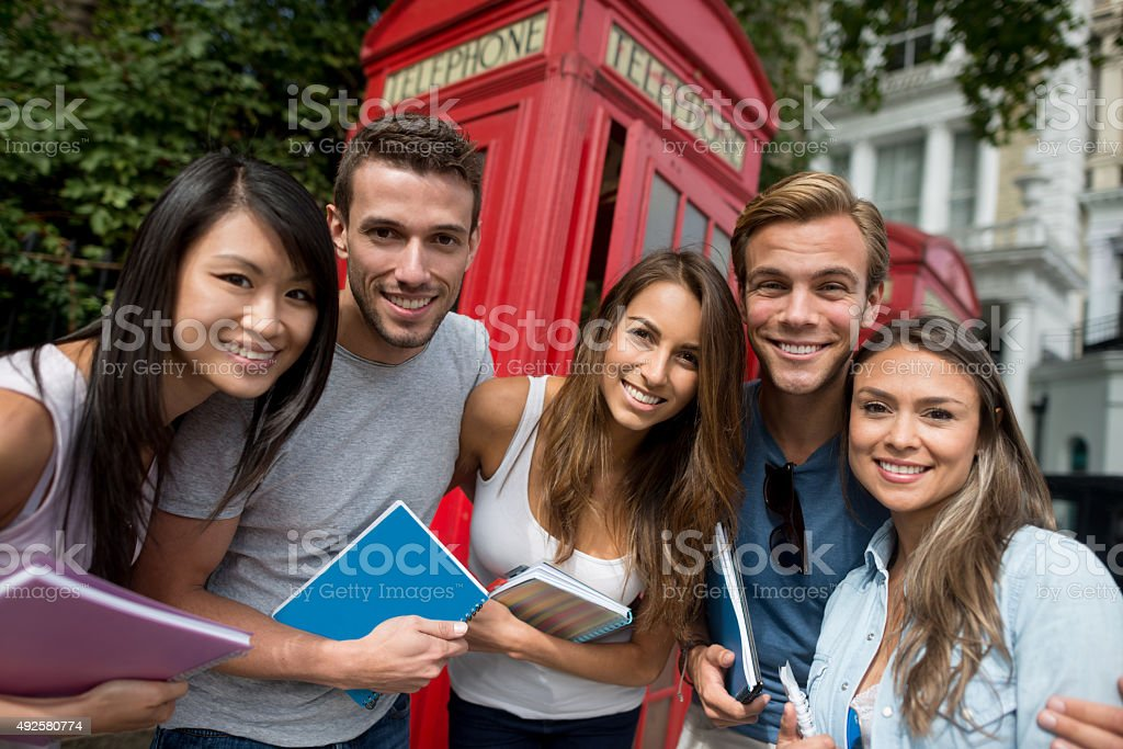 Group of exchange students in London – Foto