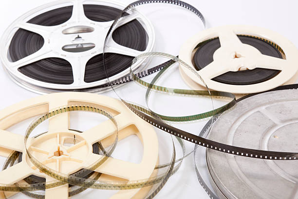 group of film reels - film festival stock photos and pictures