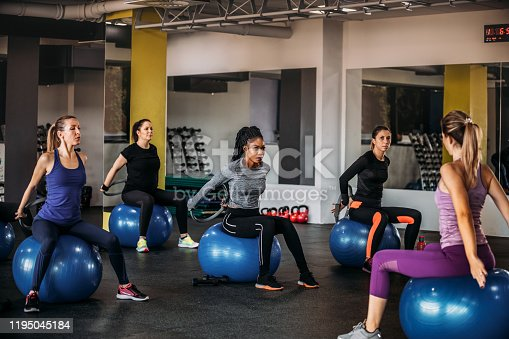 1195045259istockphoto Group Of Fit Women Exercising With Pilates Ring 1195045184