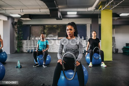 1195045259istockphoto Group Of Fit Women Exercising With Pilates Ring 1195045651