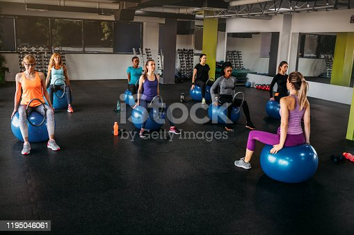 1195045259istockphoto Group Of Fit Women Exercising With Pilates Ring 1195046061