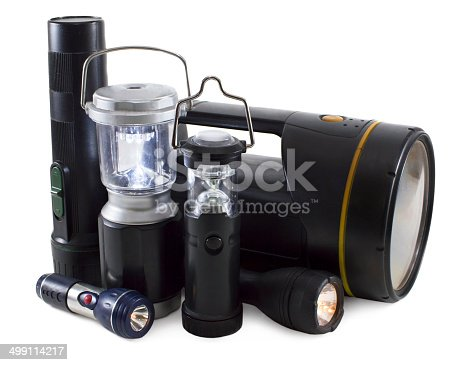174913696 istock photo Group of flashlights 499114217