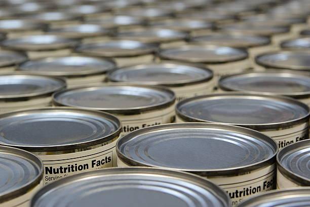 식료품 음식을 슈퍼마켓 영양 성분 - 통조림 식품 뉴스 사진 이미지