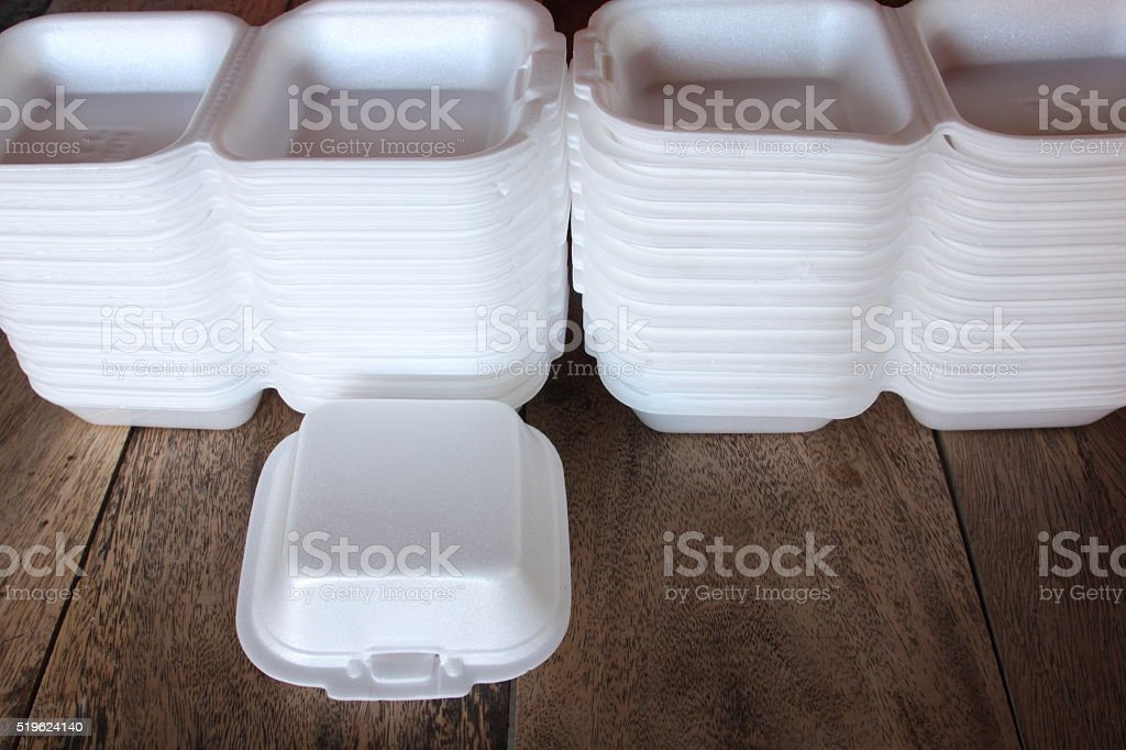Group of food container stock photo