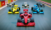 3D group of Formula One racing cars
