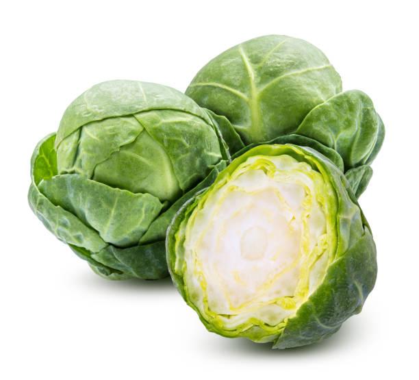 新鮮甘藍捲心菜組 - 小椰菜 個照片及圖片檔