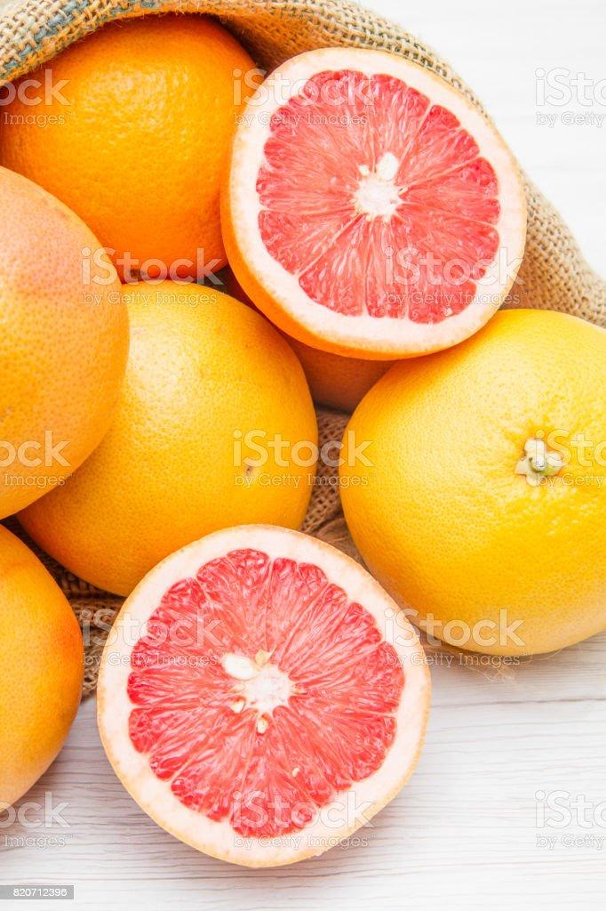 group of fresh grapefruit stock photo