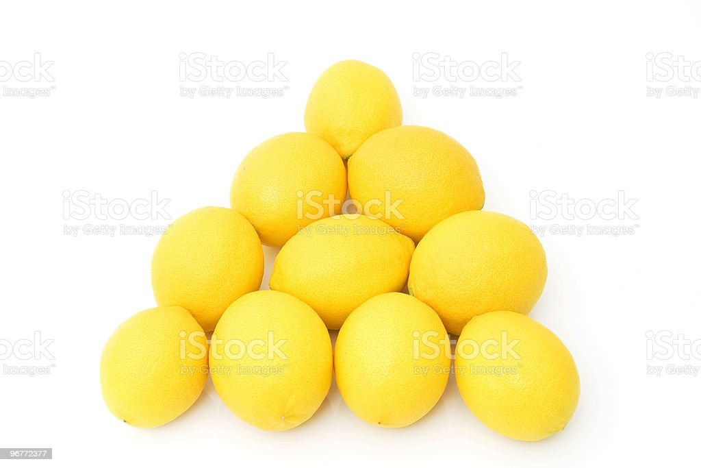 group of fresh lemons royalty-free stock photo