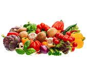 グループの新鮮な野菜とハーブ
