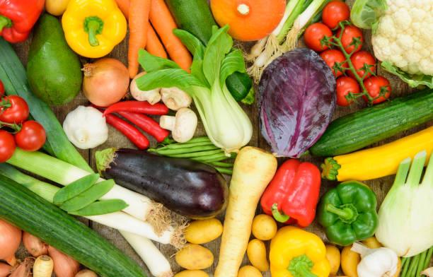 Gruppe von frischem Gemüse vom Markt – Foto