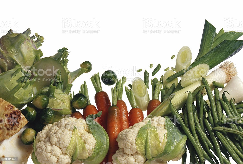 Group of fresh vegetables royalty-free stock photo