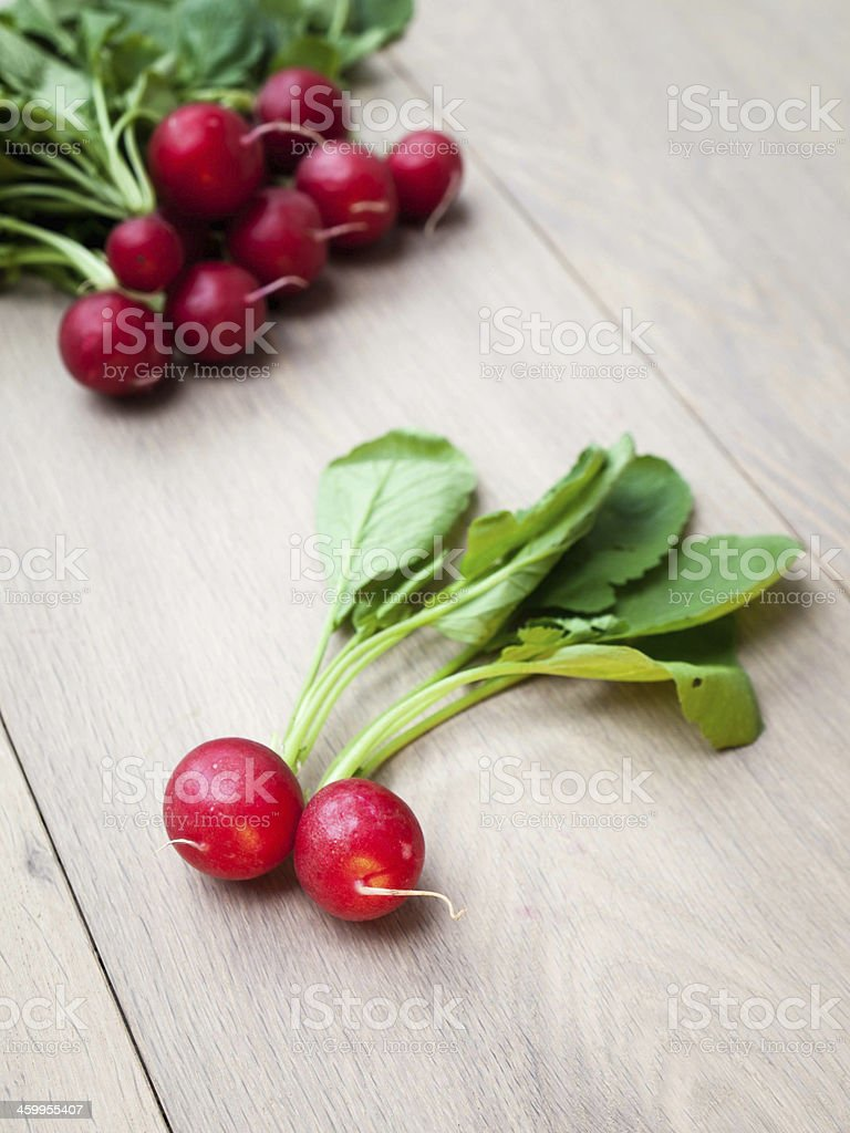 Group of Freshly Picked Raddish stock photo