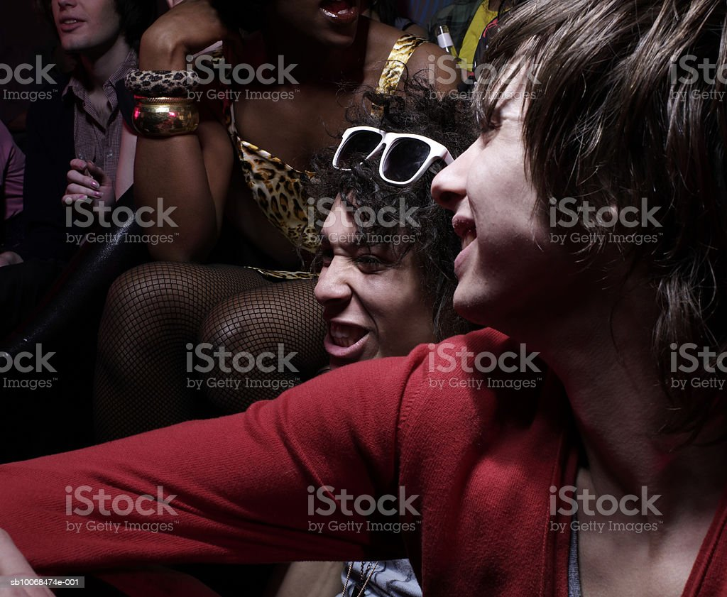 Group of friends at party, close-up royalty-free stock photo