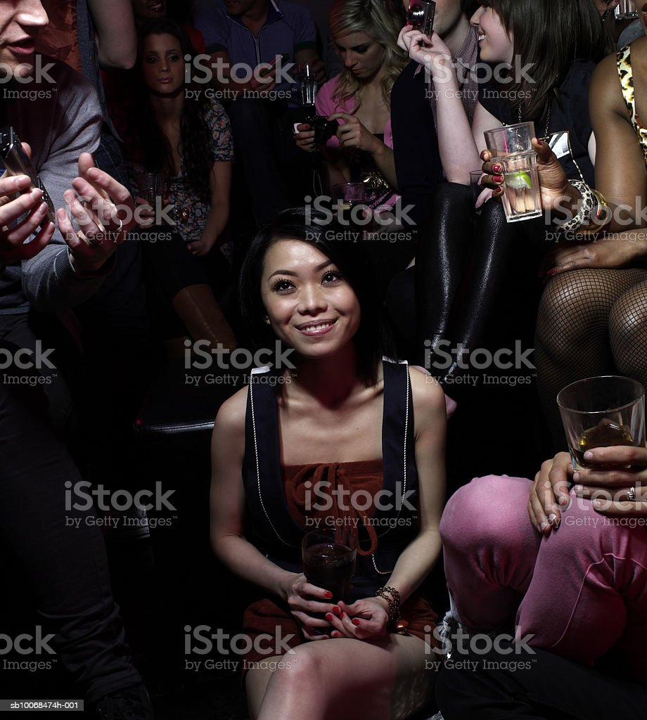 Group of friends at party royalty free stockfoto