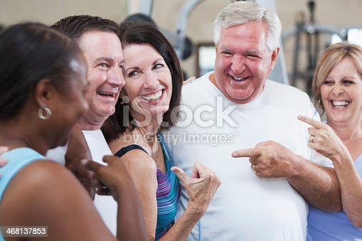 626367626 istock photo Group of friends at the gym 468137853