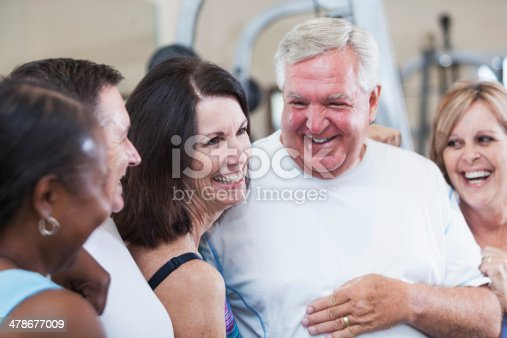 626367626 istock photo Group of friends at the gym 478677009