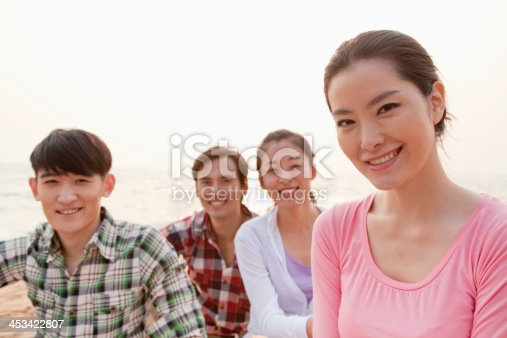 453383283 istock photo Group of Friends by the Sea 453422807