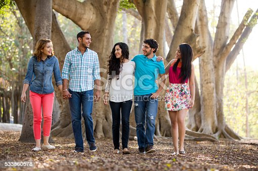istock Group of friends having a great time outside 533860578