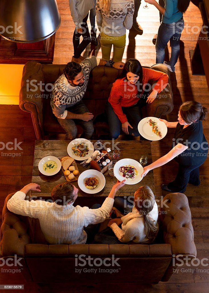 Group of Friends Having a Meal stock photo