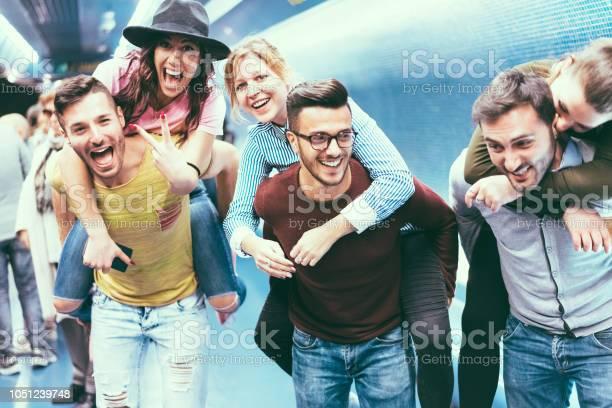 Group of friends having fun in underground metropolitan station young picture id1051239748?b=1&k=6&m=1051239748&s=612x612&h=yb3nnupakum2hnlzfsnwf3p2vdlvocl6i2455t1lili=