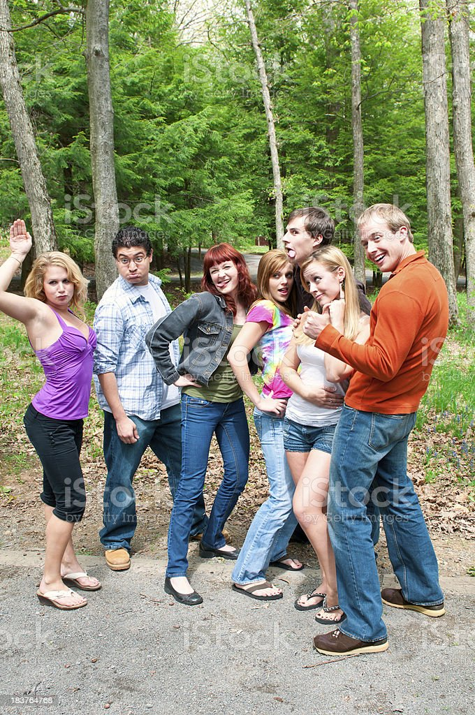 Group of Friends having Fun Outdoor - I stock photo