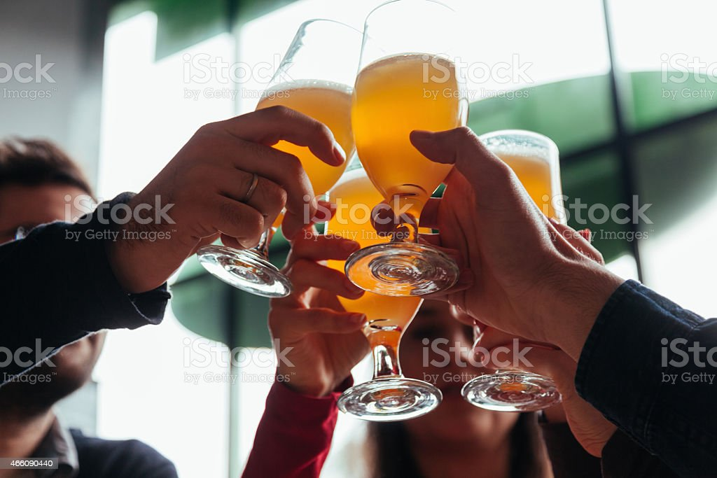 Group Of Friends In Tavern stock photo