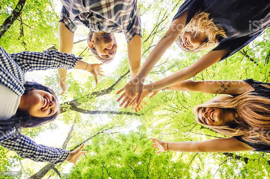 Group Of Friends in Teamwork royalty-free stock photo