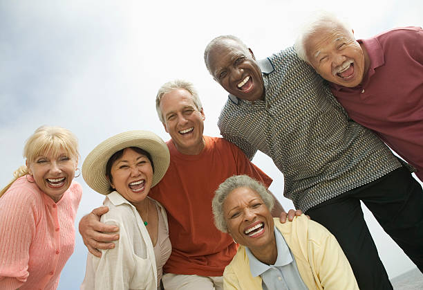 Group of Friends Laughing stock photo