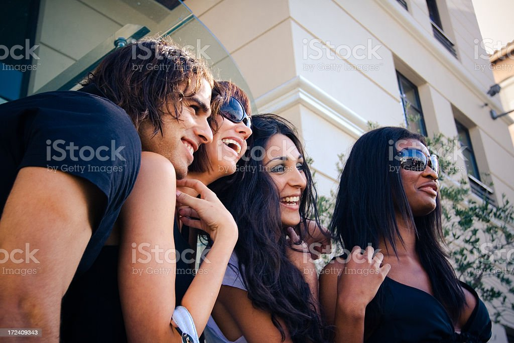 Group of friends outdoor royalty-free stock photo