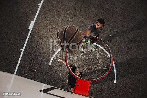 istock Group of friends playing basketball 1133684468