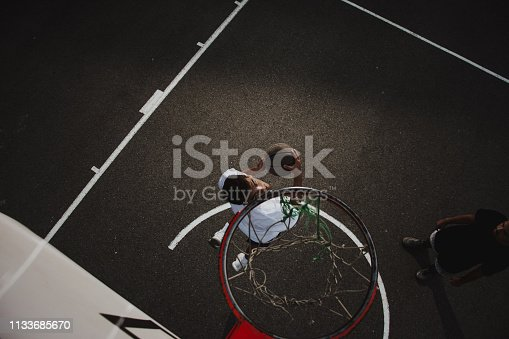 istock Group of friends playing basketball 1133685670
