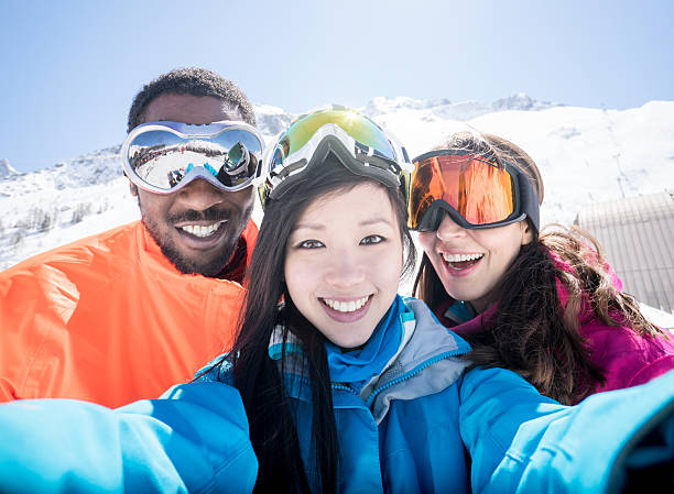 Group of friends skiing and taking a selfie picture id599712134?b=1&k=6&m=599712134&s=612x612&w=0&h=9iv bh esznxzsineior ah27w5dhlhgezcbaxpbh m=