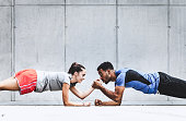 istock Group of Friends Working Out Together 639344248
