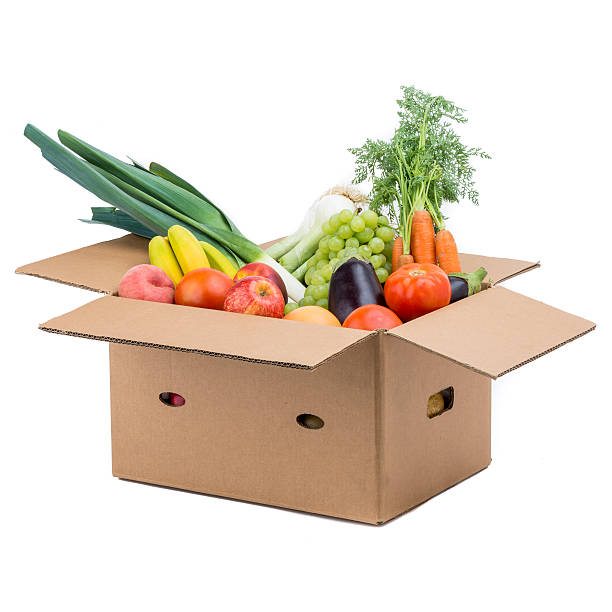 Group of fruit and vegetables stock photo