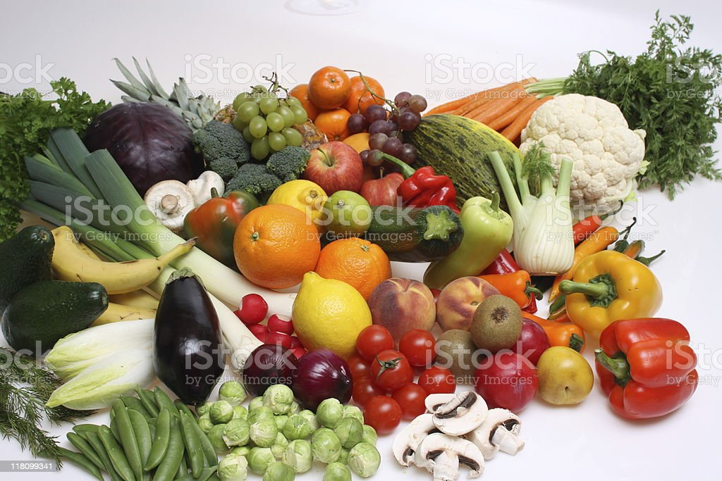 group of fruits and vegetables, royalty-free stock photo