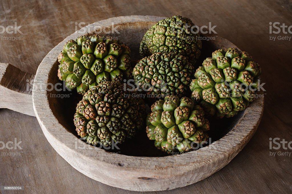 group of Fruits Of Pandanus Tree stock photo