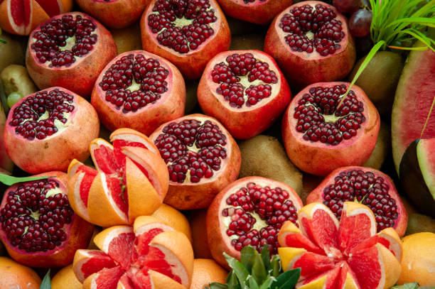 Group of fruits stock photo